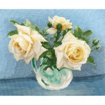 Kit point de croix - Toison d'or - Roses thé