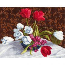 Kit point de croix - Toison d'or - Tulipes blanches