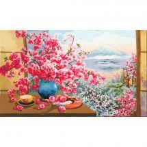 Kit point de croix - Toison d'or - Bouquet de fleurs de cerisier