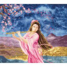 Kit point de croix - Toison d'or - Femme avec une flûte