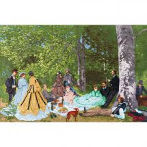 Kit point de croix - Toison d'or - Déjeuner sur l'herbe d'après Monet