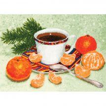 Kit point de croix - Toison d'or - Petit déjeuner du nouvel an