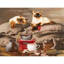 Kit point de croix - Toison d'or - Gardiens du café