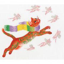 Kit point de croix - Toison d'or - La chasse aux souris roses