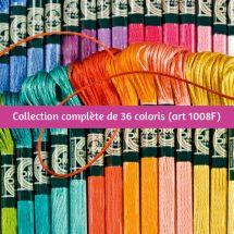 Fil à broder - DMC - Collection complète Mouliné satin - Art 1008F