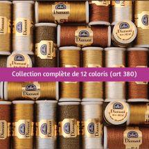 Fil à broder - DMC - Collection complète fil Diamant - Art 380 -