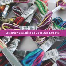 Fil à broder - DMC - Collection Complète Coloris - Art 517 -