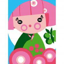 Kit de canevas pour enfant - Luc Créations - Kokeshi
