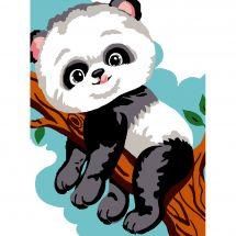 Kit de canevas pour enfant - Luc Créations - Panda