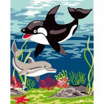 Kit de canevas pour enfant - Luc Créations - La mer