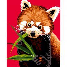 Kit de canevas pour enfant - Luc Créations - Panda roux