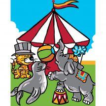 Kit de canevas pour enfant - Luc Créations - Cirque