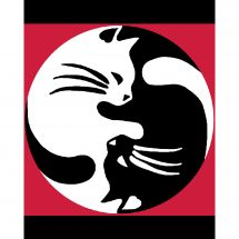 Kit de canevas pour enfant - Luc Créations - Ying Yang chats