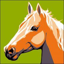 Kit de canevas pour enfant - Luc Créations - Le cheval