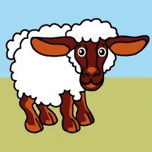 Kit de canevas pour enfant - Luc Créations - Mouton