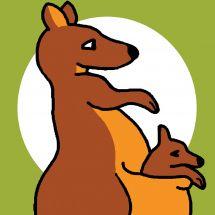 Kit de canevas pour enfant - Luc Créations - Kangourou
