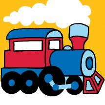 Kit de canevas pour enfant - Luc Créations - Train