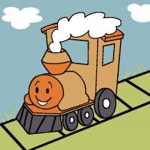 Kit de canevas pour enfant - Luc Créations - La locomotive
