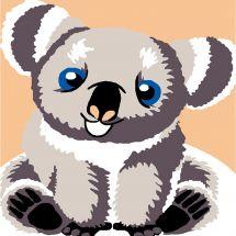 Kit de canevas pour enfant - Luc Créations - Koala