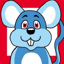 Kit de canevas pour enfant - Luc Créations - Souris bleue