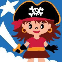 Kit de canevas pour enfant - Luc Créations - Pirate fille