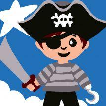 Kit de canevas pour enfant - Luc Créations - Pirate garçon