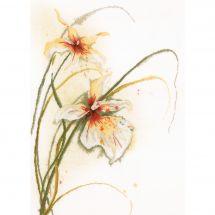 Kit point de croix - Lanarte - Orchidées