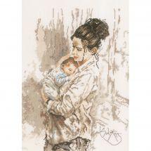 Kit point de croix - Lanarte - Amour maternel