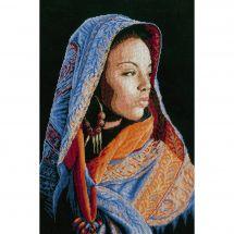 Kit point de croix - Lanarte - Femme africaine