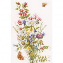 Kit point de croix - Lanarte - Fleurs des champs