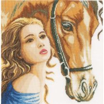 Kit point de croix - Lanarte - La femme et le cheval