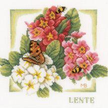 Kit point de croix - Lanarte - Printemps