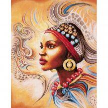 Kit point de croix - Lanarte - Mère Africaine