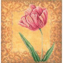 Kit point de croix - Lanarte - Tulipe