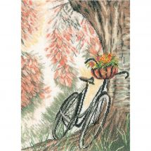 Kit point de croix - Lanarte - Vélo avec panier de fleurs