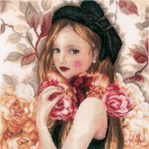 Kit point de croix - Lanarte - I hold Roses