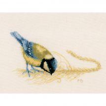 Kit point de croix - Lanarte - Mésange bleue