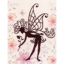 Kit point de croix - Lanarte - Silhouette de fée fleurie 1