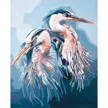 Kit de peinture par numéro - Lanarte - Les hérons bleus