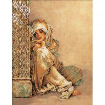 Kit point de croix - Lanarte - Femme arabe