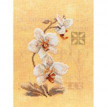 Kit point de croix - Lanarte - Les 3 orchidées