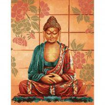 Kit point de croix - Lanarte - Buddha