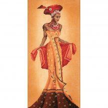 Kit point de croix - Lanarte - Mode africaine I