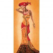 Kit point de croix - Lanarte - Mode africaine II