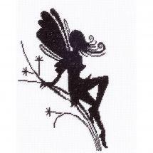 Kit point de croix - Lanarte - Petite silhouette de fée