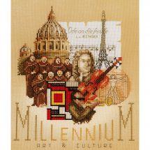 Kit point de croix - Lanarte - Millenium arts et culture