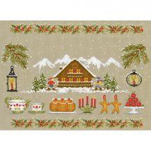 Kit point de croix - Le Bonheur des Dames - Noël blanc