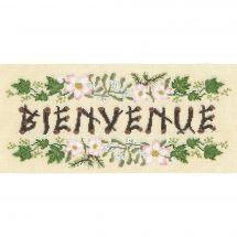 Kit point de croix - Le Bonheur des Dames - Bienvenue