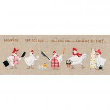 Kit point de croix - Le Bonheur des Dames - Les petites ménagères