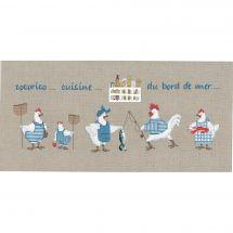 Kit point de croix - Le Bonheur des Dames - Cuisine bord de mer